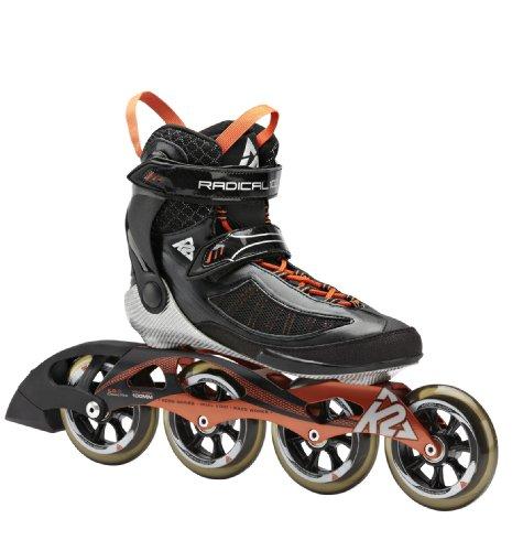 K2 Herren Inline Skate RADICAL 100 M, Schwarz/Orange/Silber, 9, 3040004.1.1.090
