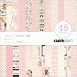 Kaisercraft Paper Pad 12 by 12-Inch, Peekaboo Girl, 48/Pack