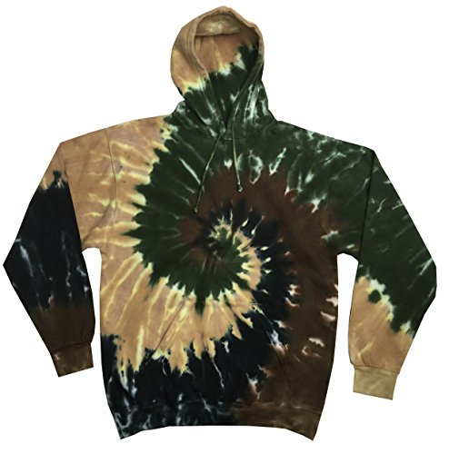 Colortone Tie Dye Hoodie 3X Camo Swirl