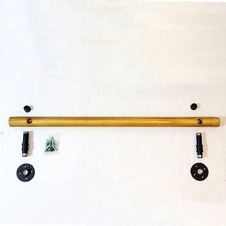 Barra de mano montada en la pared de madera, soportes de barandilla de escalera de madera
