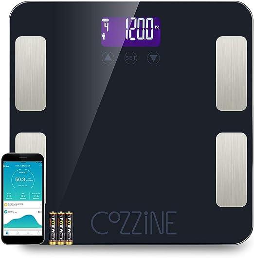 Amazon.com: Cozzine FG830LB - Báscula de grasa corporal con ...