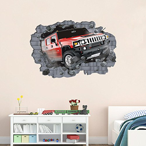 3D-Self-adhesive-Removable-Break-Through-the-Wall-Vinyl-Wall-StickerMural-Art-Decals-Decorator
