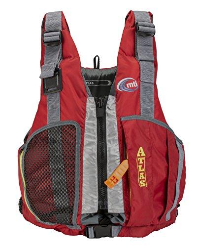 MTI Adventurewear Atlas High Buoyancy PFD Life Jacket, Red, Medium/Large