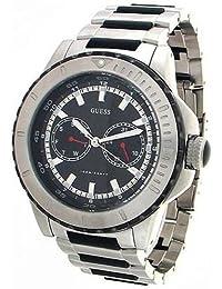 Guess Men's WaterPro U15021G1 Stainless-Steel Quartz Watch with Black Dial