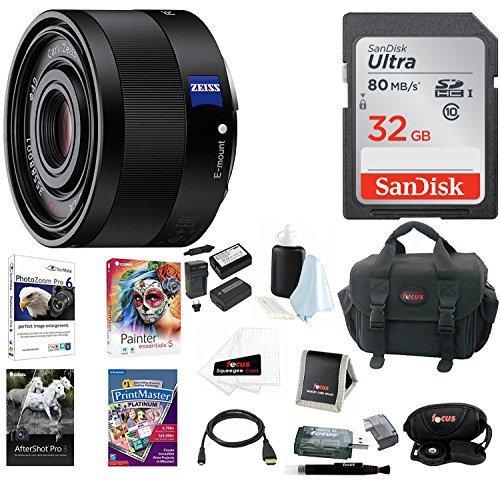 Price comparison product image Sony 35mm F2.8 Sonnar T FE ZA Full Frame Prime Fixed Lens Premium Bundle