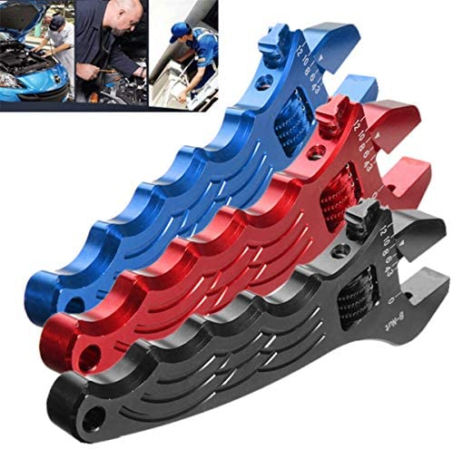 ハードウェアツール 小型 ハンドヘルド 調節可能なアルミレンチの調整ツールは、3色のスパナ (Color : Red)