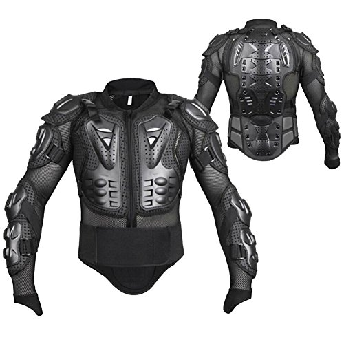 GES Motorcycle Motorbike Body Armour Armor Jacket Protection Guard Motorcross Racing Clothing Protective Gear (XXL, Black) (Jacket Snowboard Limited)