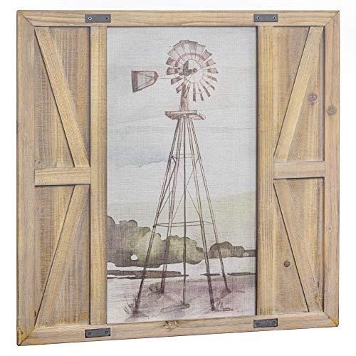American Art Décor Windmill Print on Canvas Farmhouse Barn Door Wall Art Decor