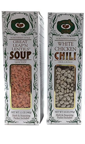 Buckeye Beans & Herbs Soup and Chili Variety of 2: Great Leap'n Lentil and White Chicken Chili – 12-14 Ounces Each (2 Items) ()