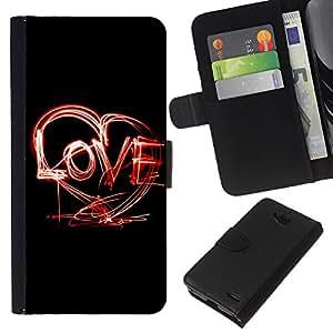 All Phone Most Case / Oferta Especial Cáscara Funda de cuero Monedero Cubierta de proteccion Caso / Wallet Case for LG OPTIMUS L90 // Creative LOVE