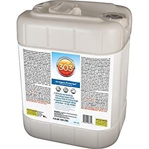 303 (30375) UV Protectant 5 Gallon for Vinyl, Plastic, Rubber, Fiberglass, Leather & More – Dust and Dirt Repellant - Non-Toxic, Matte Finish, 5 Gallon