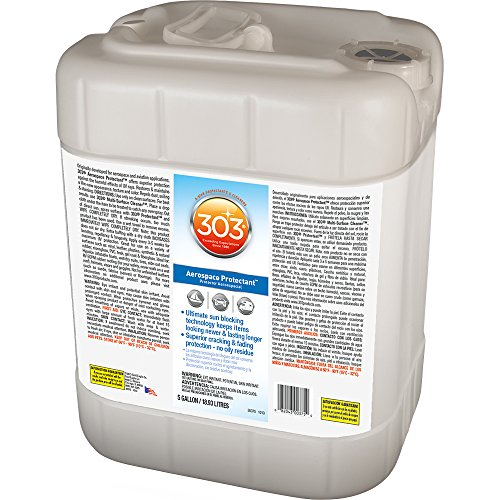 303 (30375) UV Protectant 5 Gallon for Vinyl, Plastic, Rubber, Fiberglass, Leather & More – Dust and Dirt Repellant - Non-Toxic, Matte Finish, 5 Gallon by 303 Products