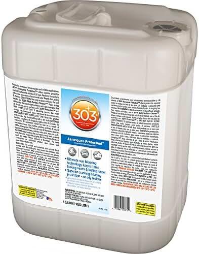 303 (30375) UV Protectant 5 Gallon for Vinyl, Plastic, Rubber, Fiberglass, Leather & More – Dust and Dirt Repellant - Non-Toxic, Matte Finish, 5 Gallon