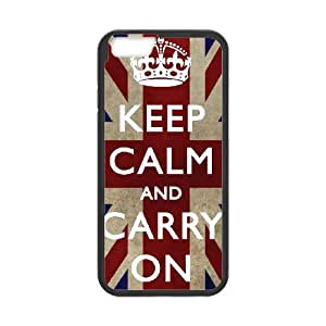 Keep Calm Carry On iPhone 6 4.7 Inch Cell Phone Case Black xlb-270067