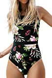 CUPSHE Women's Lotus Pond Mesh Lace One-Piece Swimsuit Small
