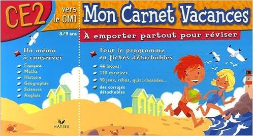 Lire Mon Carnet Vacances CE2 epub pdf