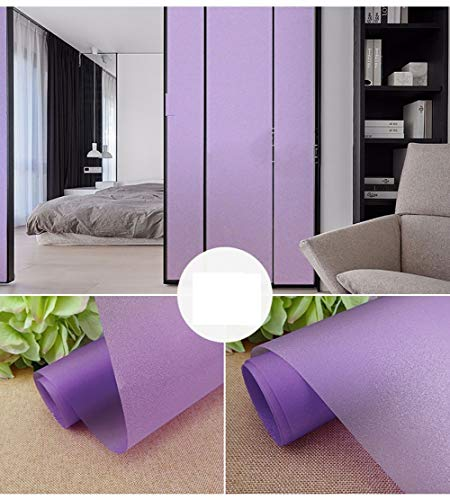 XXRBB Colourful Frosted Window Film Stained Glass Decorative Window Stickers Privacy Opaque Self-Adhesive Home Office,Purple,120x200cm(47x79inch)