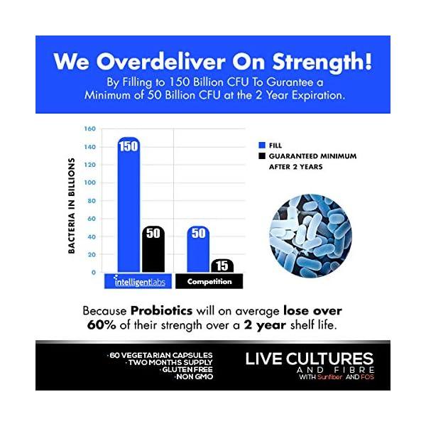 50 miliardi UFC Probiotico con Prebiotici (Sunfiber® e Fos) per un'efficacia 10 volte maggiore