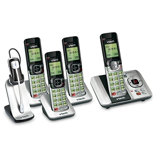 2.4 Ghz 4 Handset (VTech 4 Handset DECT 6.0 Cordless Phone Bundle with (1) CS6529-4 Phone System & (1) IS6200 Headset)