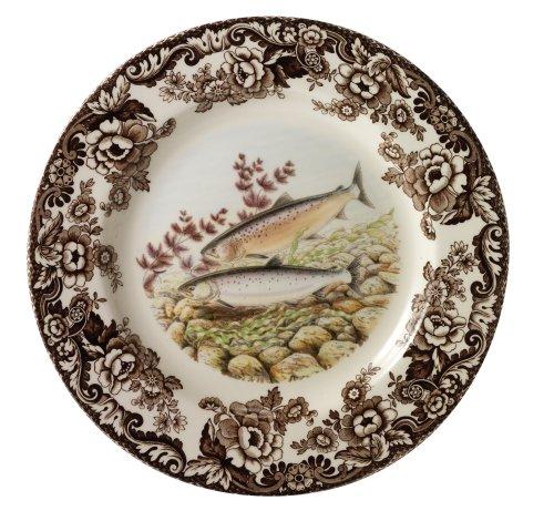 Spode Woodland Salmon Dinner Plate (China Plates Woodland)