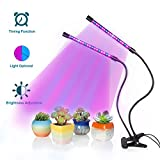 SOLOFISH Plant Growing Light with 3 Levels Light Optional Function, Dual Head 36LED Full Spectrum Grow Lamp with 9 Grade Brightness Adjustable And 3 Tone Timing Function (2018 Newest Version) Review