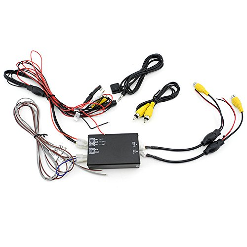 iNewcow Car Multiple Cameras Switch Control Box 2 Way Channel for Front/Rear/Right/Left View Parking Camera System Video Control to LCD/DVD/DVR.
