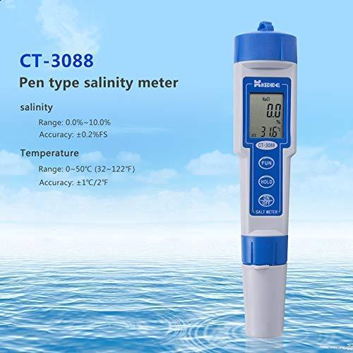 (High Accuracy Pen-Type Salt Meter Digital Display Salinometer Waterproof Water Tester Salinity)