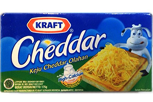 Cheddar Cheese (Keju Cheddar Olahan) - 6.17oz (Pack of 1)