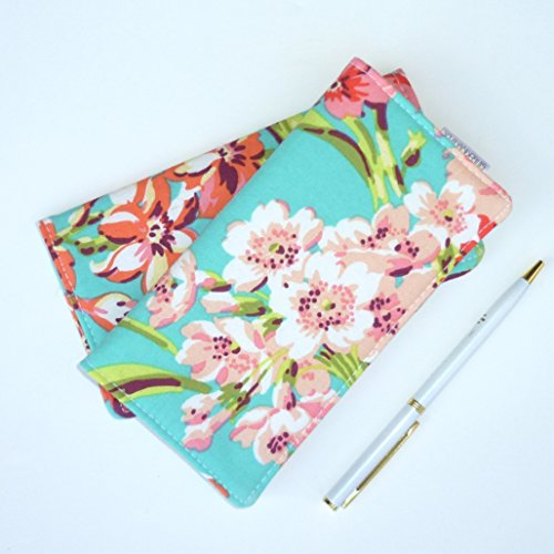Metallic Checkbook Wallet - Checkbook Cover. Wallet. Receipt Holder - Bliss Bouquet. Tropical.