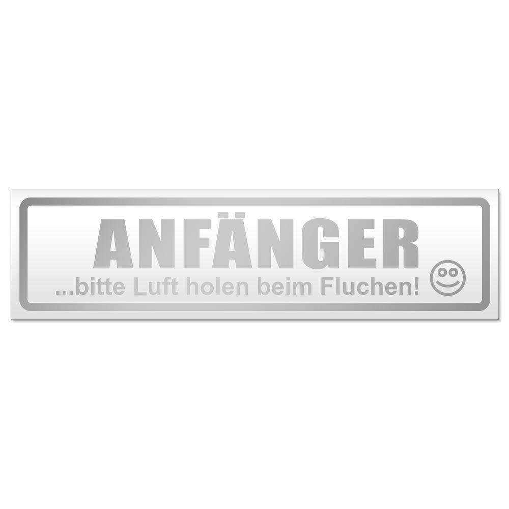 Kiwistar Anf/änger Bitte Luft Magnetschild Schild magnetisch
