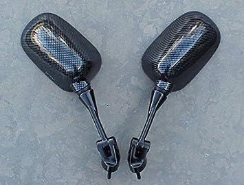 i5 Carbon Mirrors for Kawasaki Ninja ZX6 ZX6R ZX6RR 2005-2008, ZX10 ZX10R 2004-2007.