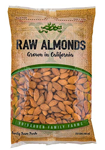 Steam Pasteurized Almonds Direct From Our Farm-- 2.5 LB Resealable Bag ()