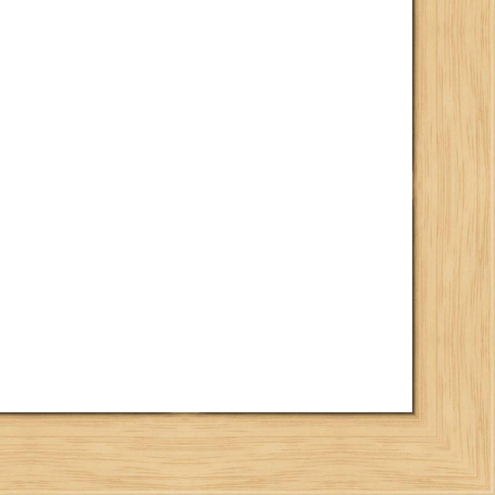 16x16 - 16 x 16 Natural Oak Flat Solid Wood Frame with UV Framer's Acrylic & Foam Board Backing - Great For a Photo, Poster, Painting, Document, or Mirror