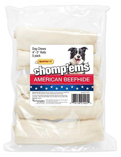 "517837vAxZL - westminster pet products 21425 American Beefhide, 5 Pack, 4-5"", Curls American Animal Hides"