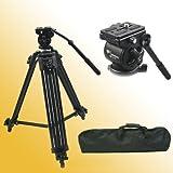 Fancierstudio Professional Heavy Duty Video Camcorder Tripod Fluid Drag Head Kits WF717
