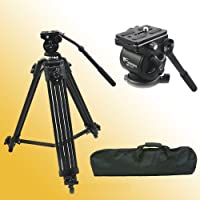 Fancierstudio Professional Heavy Duty Video Camcorder Tripod Fluid Drag Head Kits WF717