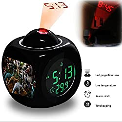 Projection Alarm Clock Wake Up Bedroom with Data and Temperature Display Talking Function, LED Wall / Ceiling Projection, Dinosaur-174.282_Free stock photo of street market, marketplace