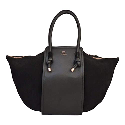 eb4deca7d9 RADLEY  Bliss Crescent  Extra Large Black Leather   Suede Grab Bag - NEW   Amazon.co.uk  Shoes   Bags