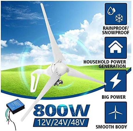 12V / 24V / 48V 800W Wind-Turbinen-Generator 3 Blades Miniatur-Windkraftanlagen Wohnhaus Mit Controller for Den Heimgebrauch. (Voltage : 48V)