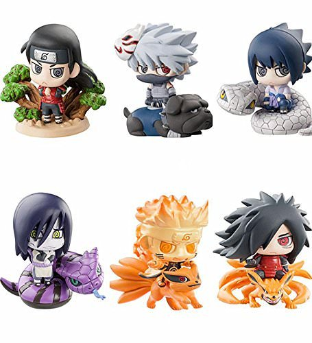 - OIVA Set of 6 Pieces Naruto Psychic World War Forbearance Mosquito Eyes Mini Figure Collectible Model (Third Edition)