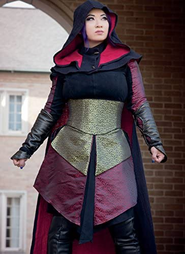 Hood Sizes 6-14 McCalls Patterns M7645A50 Assassins Dress and Cape Cosplay Costume Sewing Pattern for Women by Yaya Han Corset