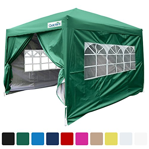 Quictent Silvox Waterproof 8×8′ EZ Pop Up Canopy Gazebo Party Tent Green Portable Style