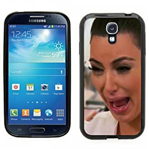 Samsung Galaxy S4 SIIII Black Rubber Silicone Case - Kim Kardashian Crying Hilarious Face