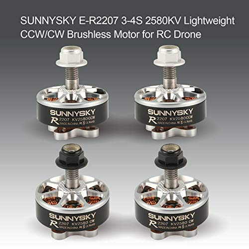 Wikiwand SUNNYSKY 3-4S E-R2207 2580KV Lightweight CW/CCW Brushless Motor for RC Drone by Wikiwand (Image #1)