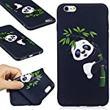 "iPhone 6 Plus / 6S Plus Case, FIREFISH Soft Touch Slim-Fit Flexible TPU Case Embossed Printing Shock Absorption Bumper [No Slip] Back Cover for Apple iPhone 6 Plus / 6S Plus 5.5"" -Panda-B"