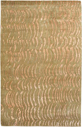 Surya Julie Cohn Shibui SH-7419 Contemporary Hand Knotted 100-Percent Semi-Worsted New Zealand Wool Beige 9-Feet by 13-Feet Tone on Tone Area - Rug Knotted Hand Shibui