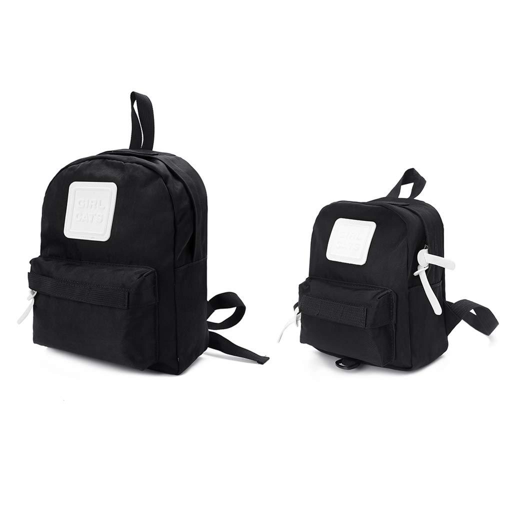 0d5331f1e5d4 Amazon.com: Rhfemd Fashion Parent-Child Backpack Travel Canvas ...