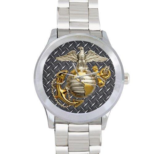 Sons/Boyfriends Gifts USMC Marine Corps Custom Metal Watch by USMC Watch