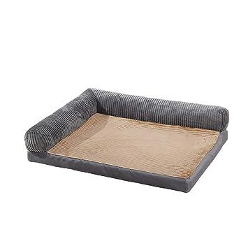 WWXX- Cama para Perros Y Gatos Cestas para Mascotas, Perros Medianos Y Grandes, Alfombrillas para Mascotas, Colchón Lavable, Gris (Tamaño : S(60x50x18cm)): ...