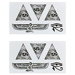 Amazon Com Cokohappy Temporary Tattoo Set Of 2 Egypt Eye Of